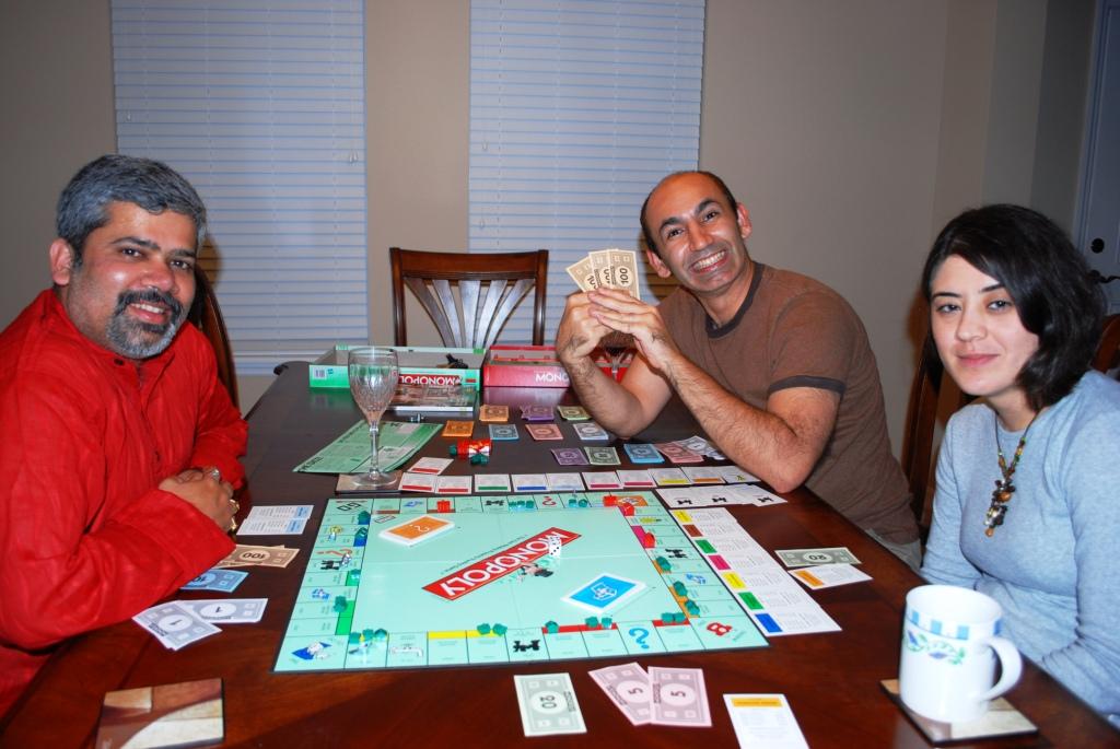 The banker, winner and expert negotiator, grinning away :)